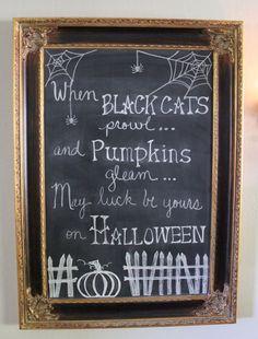 Hometalk :: Halloween Chalk Art...