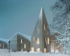 Image 8 of 33 from gallery of Shortlist Revealed for World Architecture Festival Awards CULTURE: Reiulf Ramstad Architects, Romsdal Folk Museum, Molde, Norway. Image via World Architecture Festival Scandinavian Architecture, Modern Architecture Design, Amazing Architecture, World Architecture Festival, Museum Architecture, Lillehammer, Design Museum, Bergen, Oslo