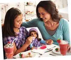 Girls only trip! American girl doll store, shopping and tea party at cafe with dolls. Stores in LA, Chicago, NYC, Dallas