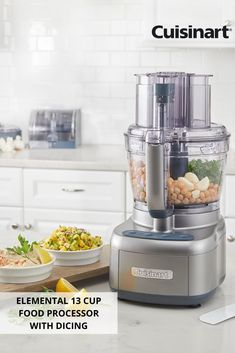 With Cuisinart's Elemental 13 Cup Food Processor with Dicing, food prep is a breeze! From creamy hummus to chopping veggies for healthy recipes, make all your favorite dishes with just the touch of a button! Kitchen Gadgets, Kitchen Stuff, Kitchen Things, Healthy Cooking, Healthy Recipes, Tactical Pen, Glass Breaker, Meal Prep, Food Prep