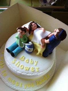 Can't help but have a laugh at this Baby Shower Cake! So cute