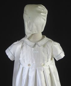 Boys Silk Christening Gown or Baptism Gown by embroideredheirlooms, $275.00