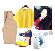 """Untitled #10"" by honeeyyy on Polyvore featuring AG Adriano Goldschmied, Christian Louboutin and Allurez"