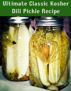 Classic Kosher Dill Pickle Recipe