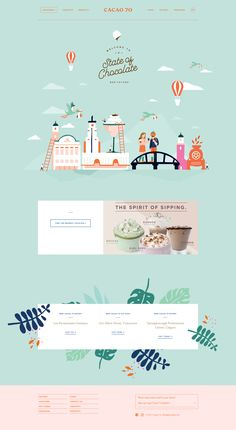 Cacao 70 main page design Design Web, Layout Design, Design Sites, Website Design Layout, Web Banner Design, Web Layout, Creative Design, Flat Design, Website Templates