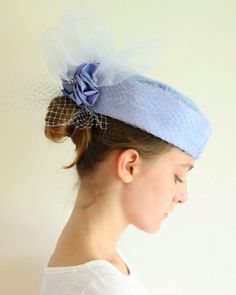 Hey, I found this really awesome Etsy listing at https://www.etsy.com/listing/156440951/vintage-hat-formal-hat-with-tulle-and