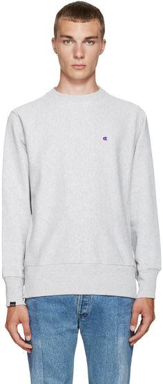 Beams x Champion - Grey Reverse Weave Sweatshirt