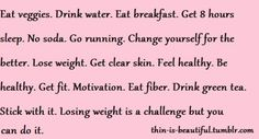 I can agree with everything but the no soda, but I am down to one a day!