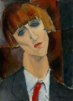 Amedeo Modigliani : Madame Kisling, 1917 Amedeo Modigliani, Modigliani Paintings, National Gallery Of Art, National Art, Italian Painters, Italian Artist, Oil On Canvas, Canvas Art, L'art Du Portrait