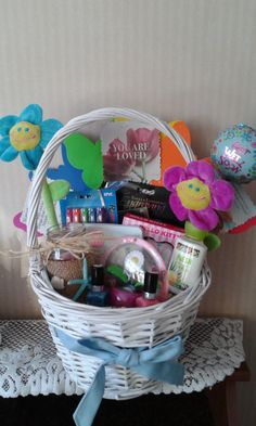 My high school students helped make easter baskets for residents at get well basket for one of my students who had surgery the other students helped negle Image collections