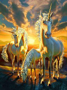 2016/07/17 Unicorns - Adrian Chesterman 1955   Fantastic Realism illustrator