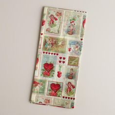 One of my favorite discoveries at WorldMarket.com: Valentine's Day Vintage  Postcard Tissue Paper, 4-Count