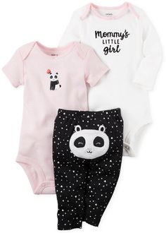 Looking for Carter's Baby Girls' 3 Piece Panda Set ? Check out our picks for the Carter's Baby Girls' 3 Piece Panda Set from the popular stores - all in one. Carters Baby Clothes, Carters Baby Girl, Cute Baby Clothes, Baby Girls, Summer Clothes, Outfits Niños, Baby Outfits, Kids Outfits, Winter Outfits