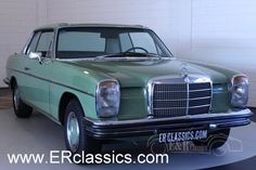 1972 Mercedes-Benz, 280C  Mercedes-Benz 280C coupe 1972, restored, in Topcondition   1972 Mercedes-Benz 280C (W114), coupe. The car is in a top restored condition. Beautiful green paint, original wheels and a very beautiful grey leather interior, a really great combination. The car has the original DOHC 2746 CC 6 in line 180 HP engine and an automatic gearbox which makes this car drive great. Whe ..  http://www.collectioncar.com/detailed.php?ad=64248&category_id=1