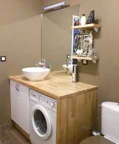 New Bathroom Cabinet Remodel Vanities Ideas Rental Bathroom, Laundry Room Bathroom, Small Laundry Rooms, Bathroom Cabinets, Small Bathroom, Bathroom Layout Plans, Toilette Design, Small Space Interior Design, Downstairs Toilet
