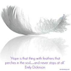 Inspirational Quotes | Emily Dickinson #inspiration #quotes #hope #feathers #soul