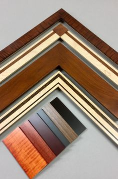 These hand-crafted hardwood frames are made in Pennsylvania and are customizable with different woods, shapes and sizes. You can have one of these beautiful frames made for your picture framing project.