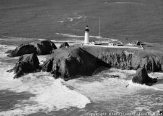 Yaquina Head Lighthouse - Newport, Oregon - This photo shows the houses. We lived there 1966-67