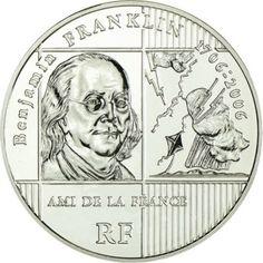 20 Euro Silber 300. Geburtstag von Benjamin Franklin - 5 Unzen PP