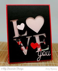Love and Adore You Die-namics, Love Centerpieces Die-namics - Amy Rysavy #mftstamps