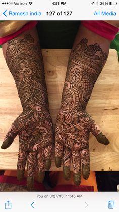 Bridalhennaartist.com Bridal Mehndi Designs, Bridal Henna, Beautiful Mehndi Design, Mehendi, Hand Henna, Hand Tattoos, Hair Styles, Hair Plait Styles, Hair Makeup
