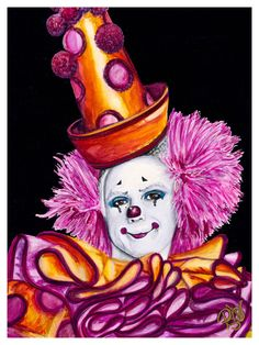 Giclee Print - Watercolor Clown #26 Victor Ruiz    Paper: Fine Art Paper or Canvas    Giclee Print Size: 9 X 12 , 11 X 14, or 16 X 20inches    Frame: Unframed    Signed on back and on comes with signed Certificate of Authenticity    The paper upon which the ink was applied is fine art paper : acid free, lignin chlorine free, smudge resistant. Avoid touching the surface of the print. Required framing under glass.    The canvas will have black sides and have a wire ready for hanging.    The…