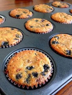 Blueberry Banana Protein Muffins | The Wheatless Kitchen