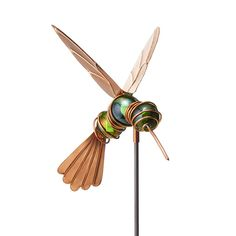 Humphrey the Hovering Hummingbird Stake | handmade garden decoration | UncommonGoods