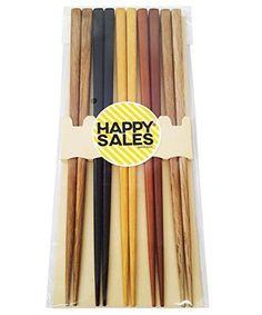 Bamboo-Chopsticks-5-Pairs-Multi-Color-Design-Japanese-Gift-Set-Mnt-Kichen-New