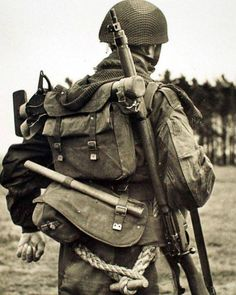 British Airborne loaded down with gear.