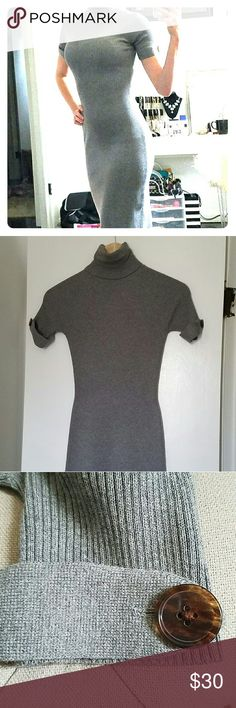 Gray Sweater Dress,  Moda International Turtleneck sweater dress purchased from Victoria's Secret. Only wore once.  In perfect condition. Hits at the knee. Open to offers! Moda International Dresses Midi