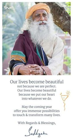 Sadhguru Mental Health Therapy, Mental Health Recovery, Mental Health Matters, Quotes About New Year, Inspiring Quotes About Life, New Year Wishes Quotes, Sanskrit Quotes, Mystic Quotes, Depression Awareness