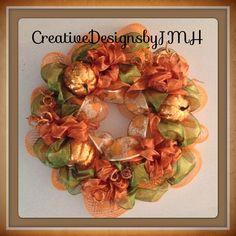 Fall Deco Mesh, Deco Mesh Wreaths, Floral Wreath, Ideas, Home Decor, Floral Crown, Decoration Home, Room Decor, Home Interior Design