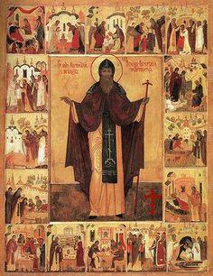 Heilige Cornelius, abt van het Holenklooster in Pskov Byzantine Art, Cornelius, Saints, Painting, Van, Icons, Painting Art, Symbols, Paintings