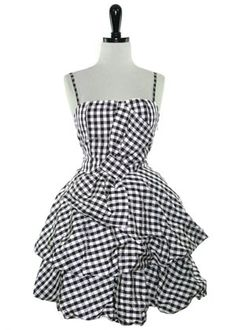 The Scene Queen Pump Up The Volume Dress :  gingham checkered pinup clothing indie dresses