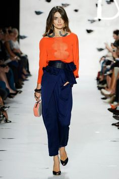 DVF S2013...orange and blue