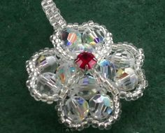 4 leaf clover bead jewelry | Beading4perfectionists : Four leaf clover pendant made out of ...