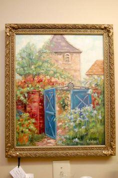 French Gate Oil Painting - Fraysinnet, France
