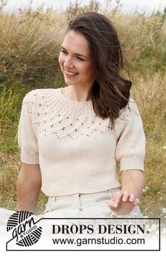 Drops Design, Knitting Patterns Free, Free Knitting, Crochet Patterns, Jumpers For Women, Cardigans For Women, Crochet Blouse, Knit Crochet, Crochet Patron