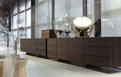 Contemporary sideboard / in wood / by Jean Marie Massaud - PANDORA