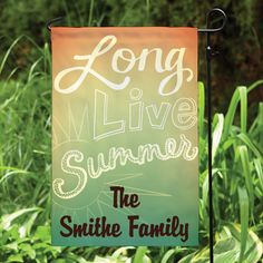 Long Live Summer Personalized Garden Flag - Garden Flags $12.99 + Free Shipping…