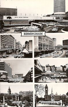 Birmingham in the 1960's by David_Turner, via Flickr Birmingham, UK #England Birmingham City Centre, Birmingham England, Time In The World, West Midlands, Best Cities, Urban Landscape, British Isles, Old Photos, Around The Worlds