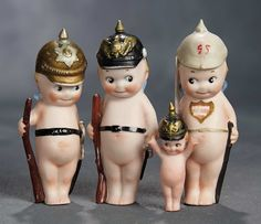 """The Voyage Continues"" - Saturday, January 7, 2017: 232 Four German All-Bisque Kewpie Soldiers"