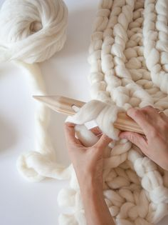 knitting noodles.
