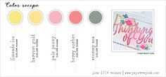 June 2016 Color Recipe #5 (Limeade Ice, Harvest Gold, Pale Peony, Berry Sorbet, Stormy Sea)