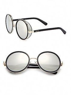cbd4146b8 Jimmy Choo Andie Glitter-Trim Round Sunglasses, saw these the other day and  oh