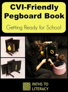 Create your own CVI-friendly pegboard book for children with cortical visual impairment.