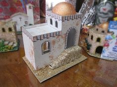 Risultati immagini per casas para belenes Desert Homes, Young At Heart, Play Houses, Christmas Home, Decoration, Diorama, Art For Kids, Art Projects, Decorative Boxes