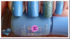 Esmalte Importado Adora Bleu T06 Bourjois + Blue Topaz Jordana Texture Nail Polish  #nailpolish #esmaltesempre