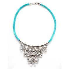 nOir Jewelry Thin Cord CZ Necklace #WanteringTrends #BrightJewelry For more Spring trends visit http://springtrends2013.wantering.com/